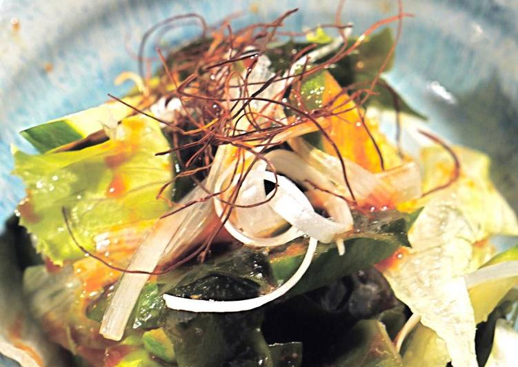 Best Comfort Dinner Easy Autumn Sweet, Salty, and Sour Wakame Salad with Bibimbap Noodle Sauce