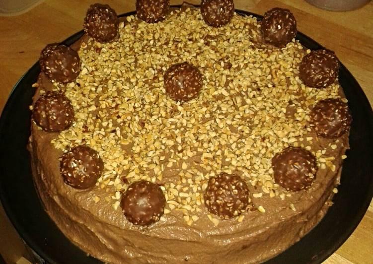 Delicious Ferrero Rocher tart