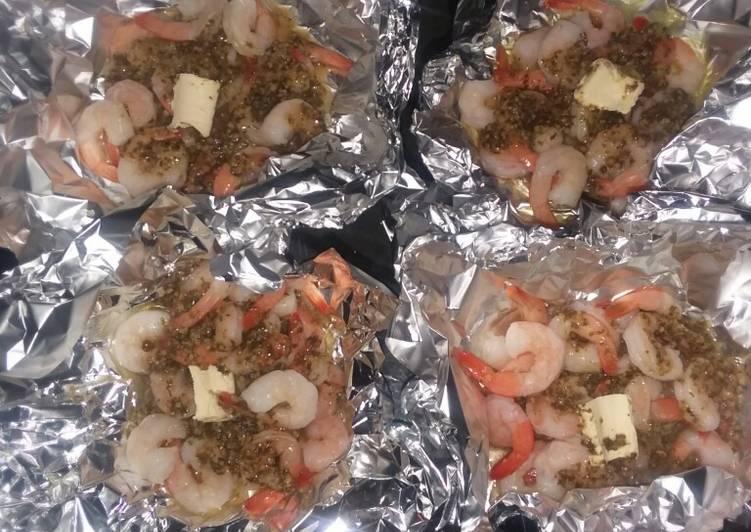 Easy foiled packed shrimp