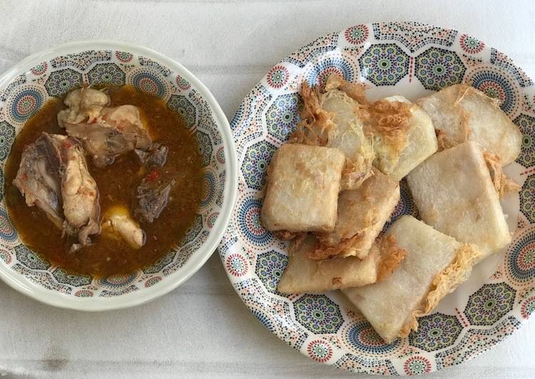 Recipe of Any-night-of-the-week Golden Yam with chicken pepper soup