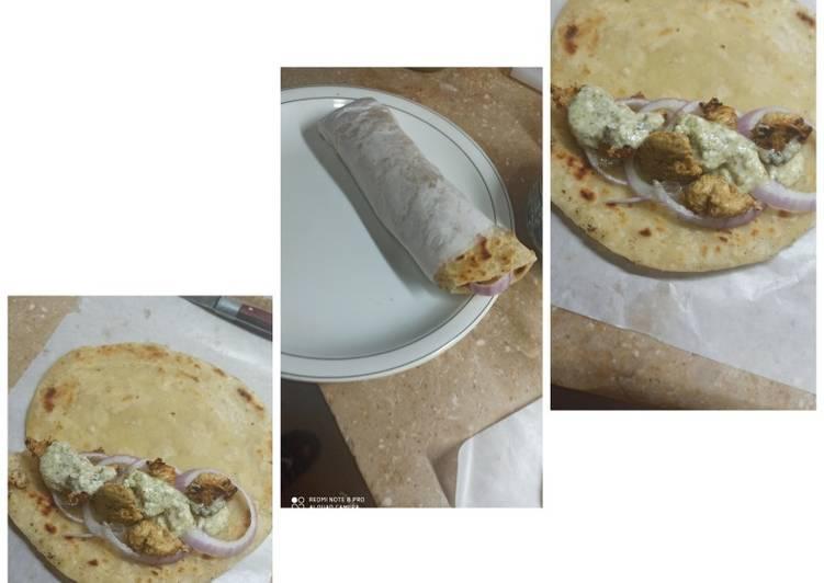 Chicken roll Paratha