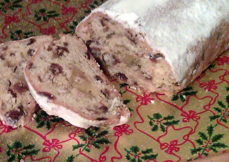 Vickys Christmas Stollen Bread, GF DF EF SF