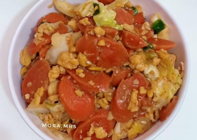 Resep Orak Arik Telur Sosis Oleh Mora Mrs Cookpad