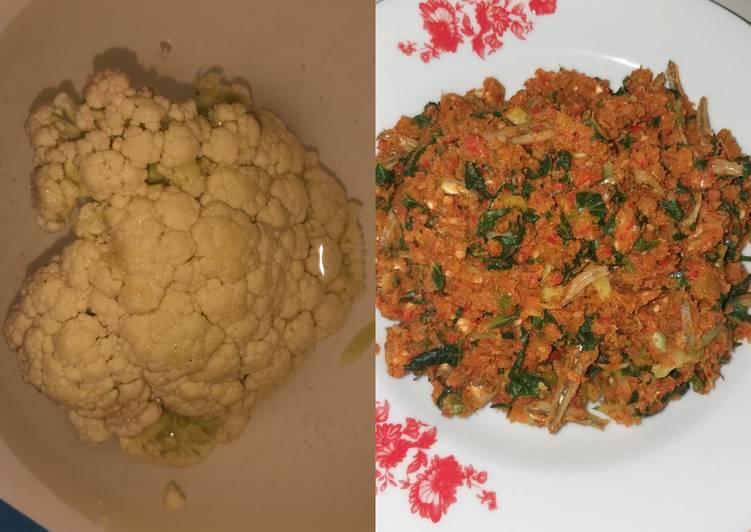 Cara membuat Nasi Goreng Kembang Kol (High Fiber + SEHAT +aman untuk DIET)