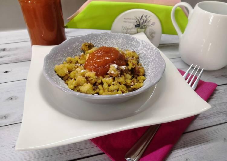 Glutén és tejmentes császármorzsa, smarni recept foto