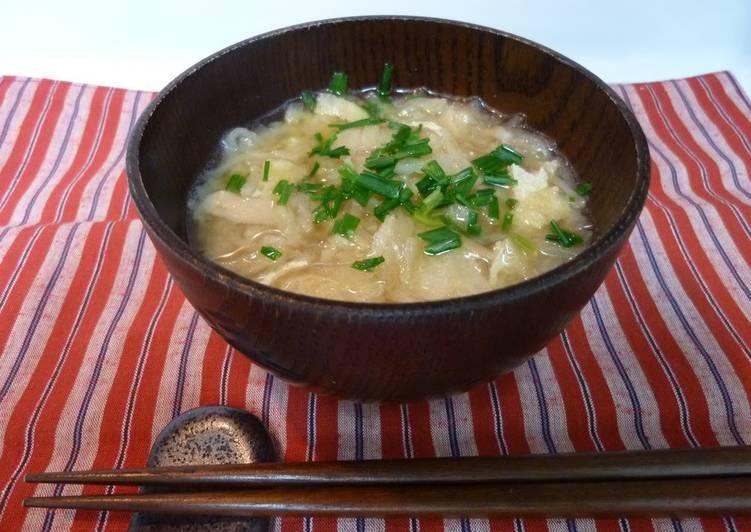 Easiest Way to Prepare Perfect No Pre-soaking Required: Kiriboshi Daikon and Kurumabu Miso Soup
