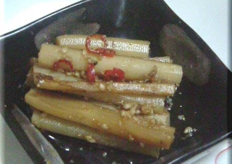 Step-by-Step Guide to Prepare Homemade Simmered Burdock Root with Sesame Seeds