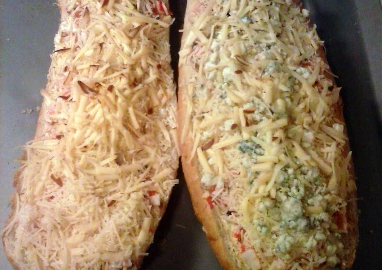Brad's ceviche garlic bread