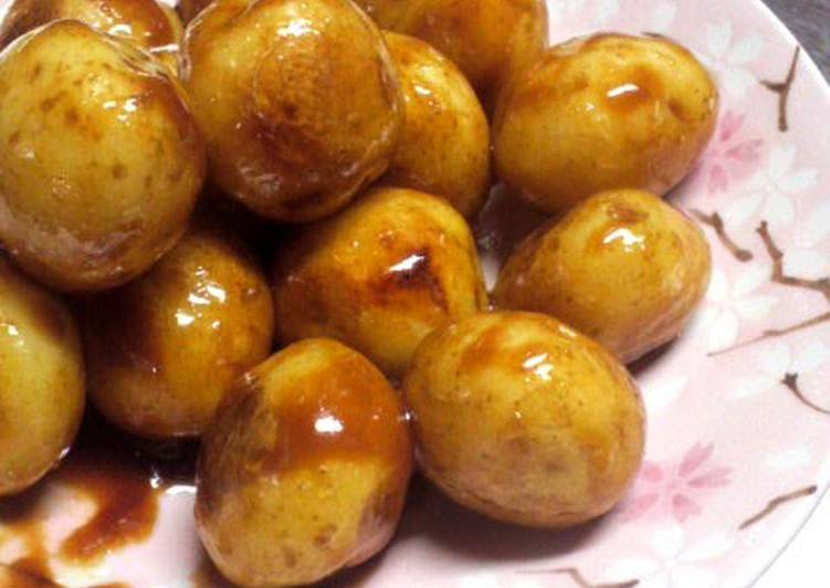 10 Minute Simple Way to Make Any Night Of The Week Small New Potatoes Sautéed Teriyaki Style in Sweet and Sour Miso