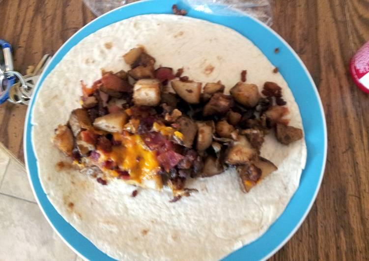 Bomb breakfast burrito