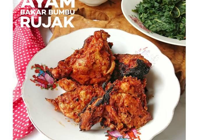 Resep Ayam Bakar Bumbu Rujak Anti Gagal
