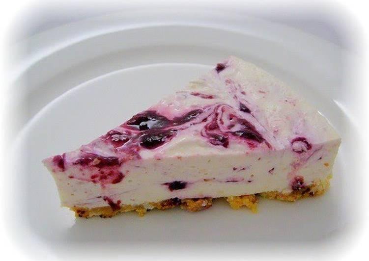 Recipe of Super Quick Homemade No-bake Soymilk Cheesecake!!