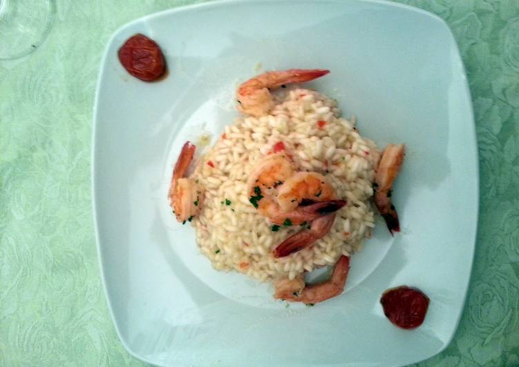 Risotto with Smoked Prawns