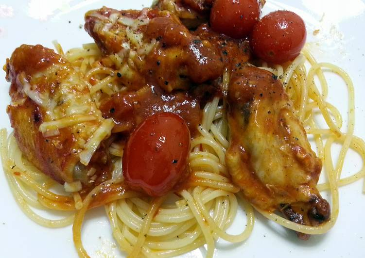 Chicken Bolognese And Spaghetti