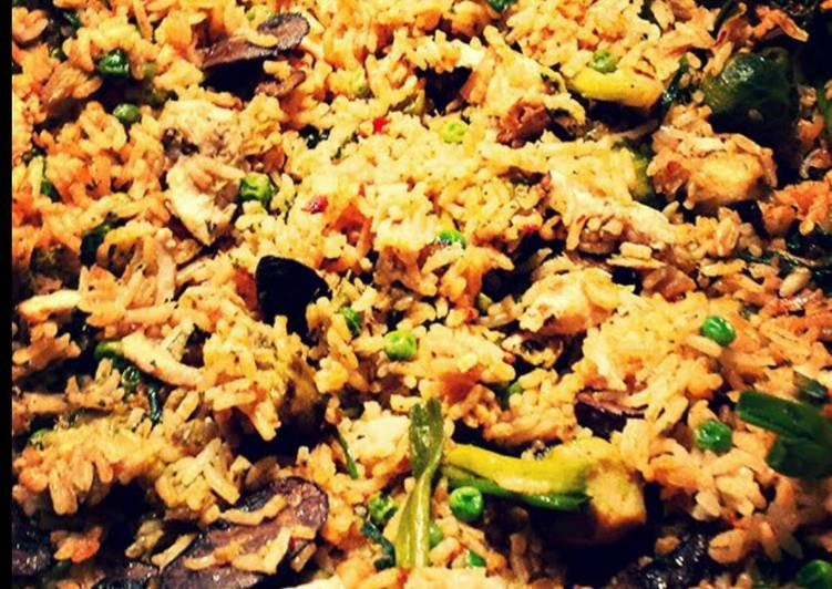 Spicy Vegetable Fried Rice 🍄