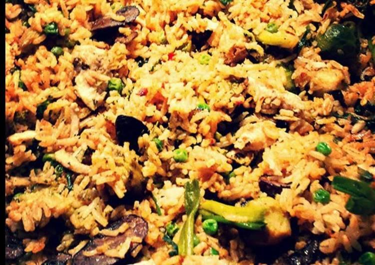 Easiest Way to Prepare Favorite Spicy Vegetable Fried Rice 🍄