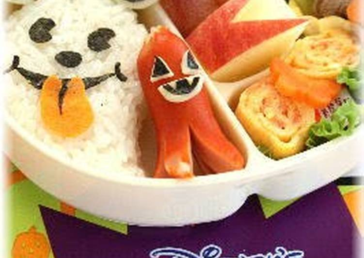 Information on How to Boost Your Mood with Food Mickey Mouse Onigiri Ghost * Character Bento for Halloween