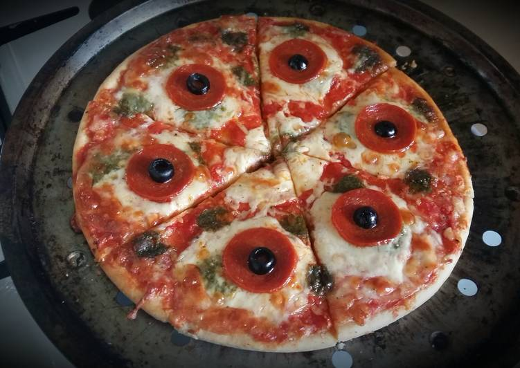 Step-by-Step Guide to Prepare Quick Vickys Halloween Pizza 'P-Eyes' 👀 GF DF EF SF NF