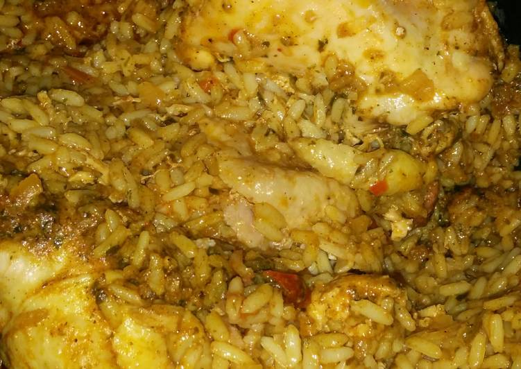 Cajun chicken rice