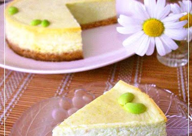 Very Rich Cheese Cake with Edamame Beans