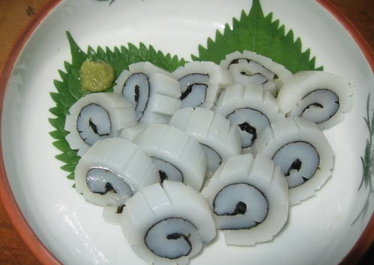 Steps to Prepare Super Quick Homemade Fresh Squid Naruto-Style Rolls