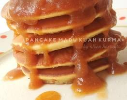 Pancake madu kuah kurma / pancake simple