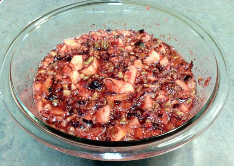 Grandmother's Dinner Easy Super Quick Homemade Molded Cranberry Salad