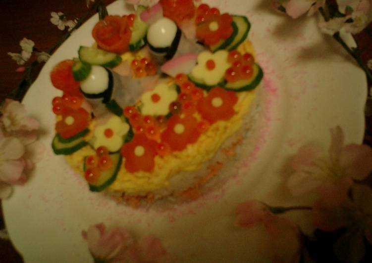 Recipe of Super Quick Homemade Hina Matsuri Sushi Cake