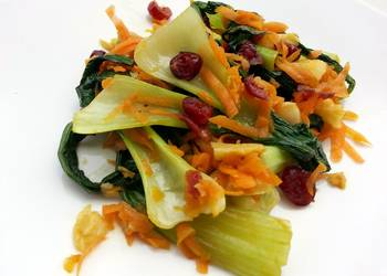 How to Cook Perfect Bak Choy With Dried Cranberries Salad