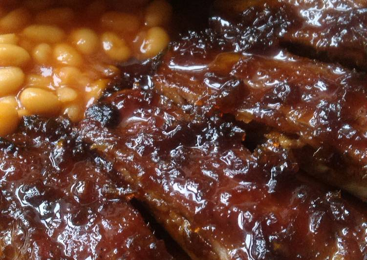 Recipe of Quick Vickys Slow Baked Ribs, GF DF EF SF NF