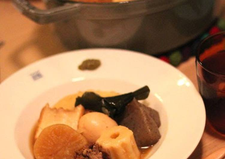 Recipe of Most Popular Meltingly Soft and Tender Beef Tendon Oden