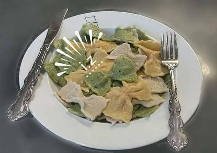 Recipe: Delicious Three Homemade Fresh Farfalle or ???? Bow Tie ???? Pasta