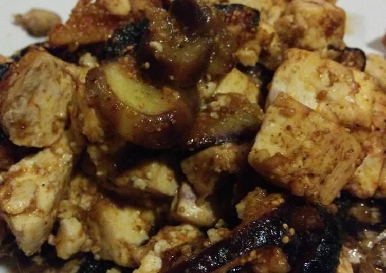 Fig & tofu stuffed mushrooms