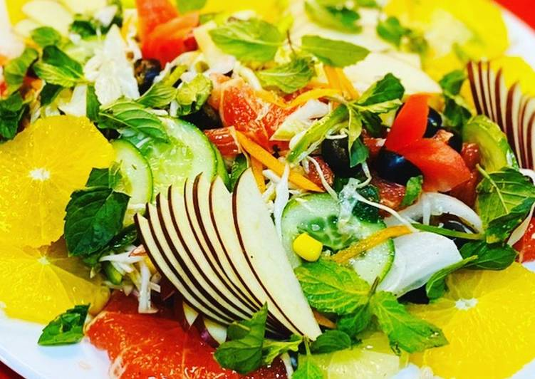 Easiest Way to Cook Yummy Mix fruit and vegetable salad