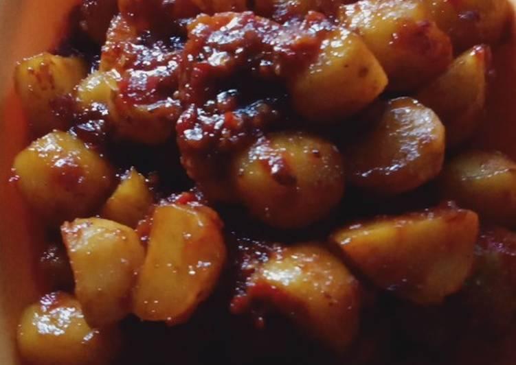 Rendang kentang tanpa santan