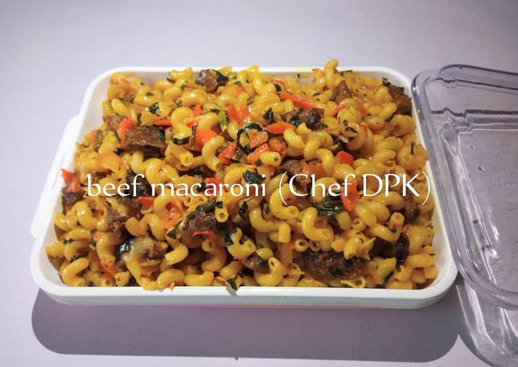 How to Make Any-night-of-the-week Classic beef Macaroni