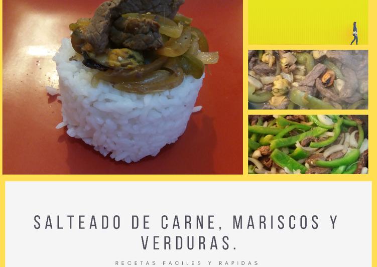 Salteado De Carne Mariscos Y Verduras Receta De Ivonne