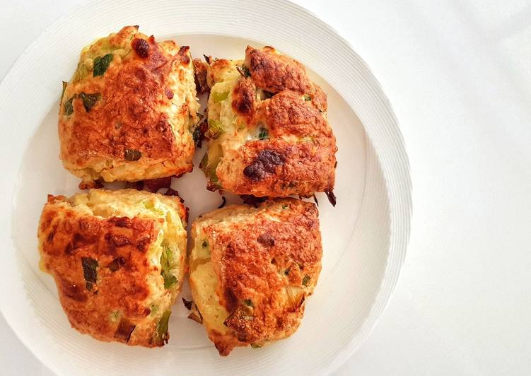 Step-by-Step Guide to Make Quick Scallion cheese scones