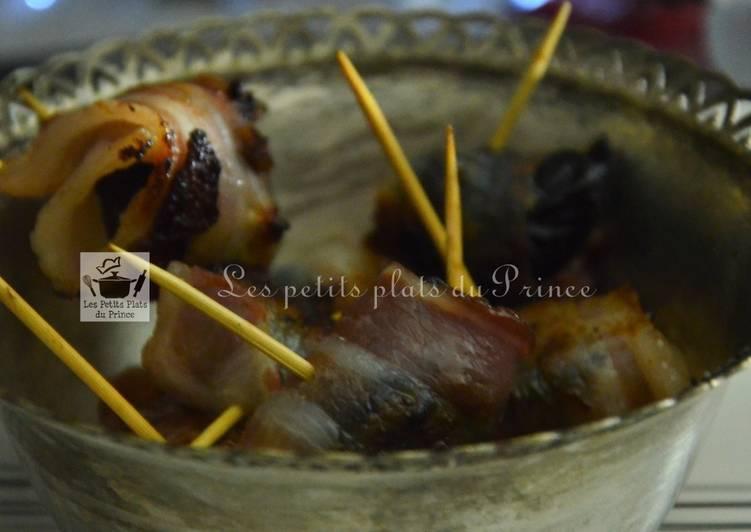 Recette Appétissante Amuse-bouche de pruneau au lard