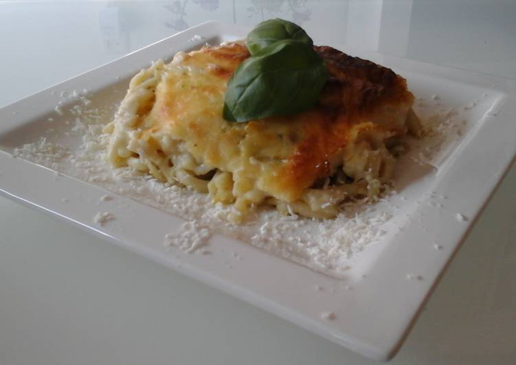 Baked Lasgana with Zucchini and Feta Cheese