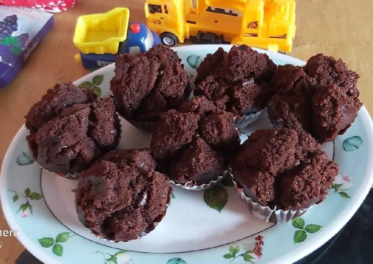 Cup Cake Coklat Tanpa Telur