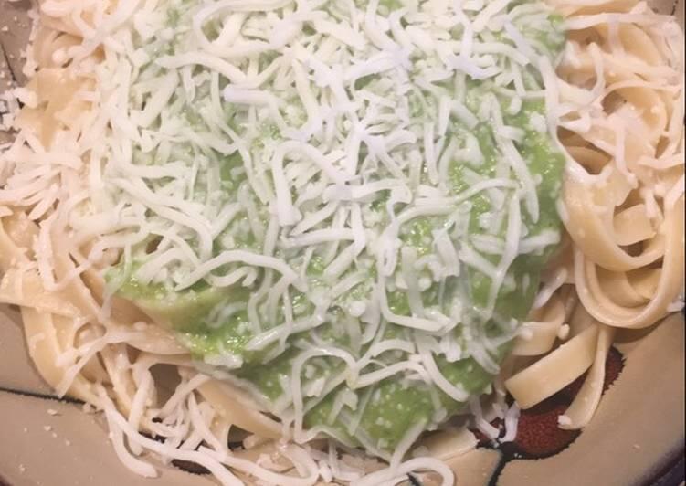Avacado Spinach Fettuccine