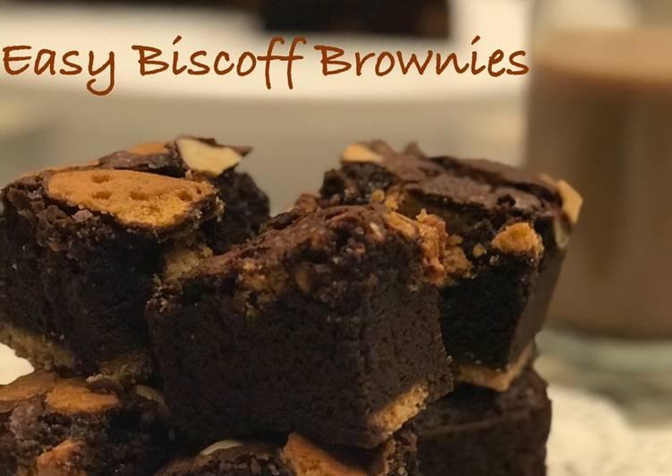 Easy Biscoff brownies