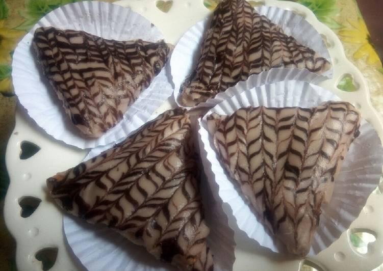 Samoussa au banane et chocolat