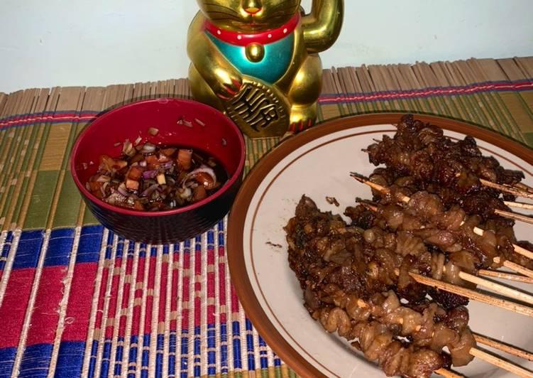 Sate kulit ayam yakitori