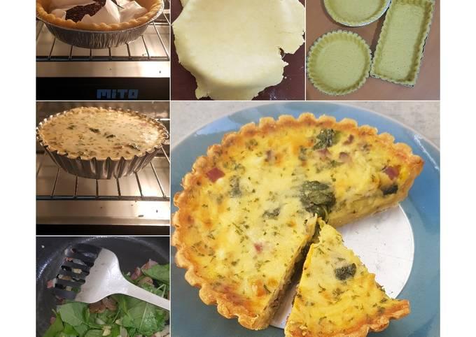 Spinach & Cheese Quiche 😊