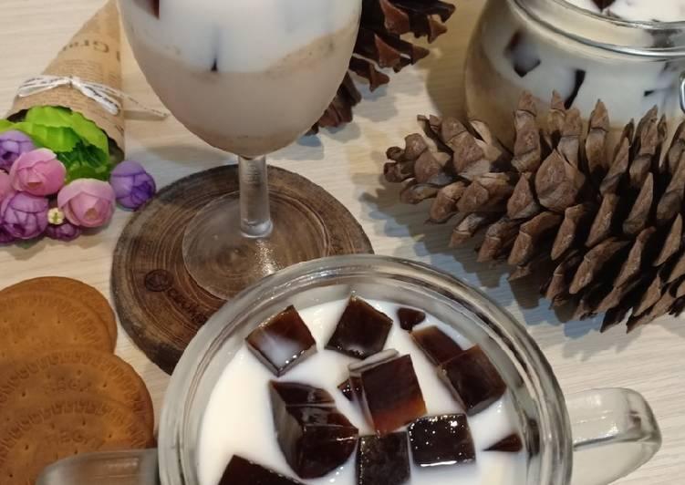 Thai Tea Marie Pudding Coffe Jelly