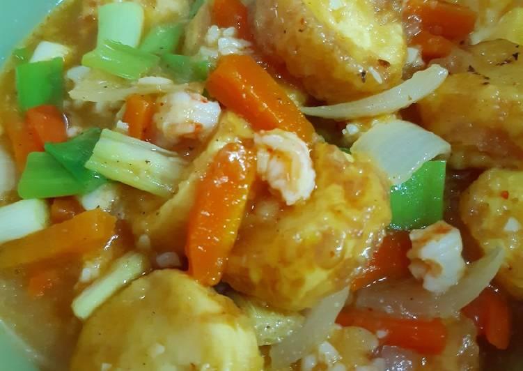 Cah Egg Tofu Udang