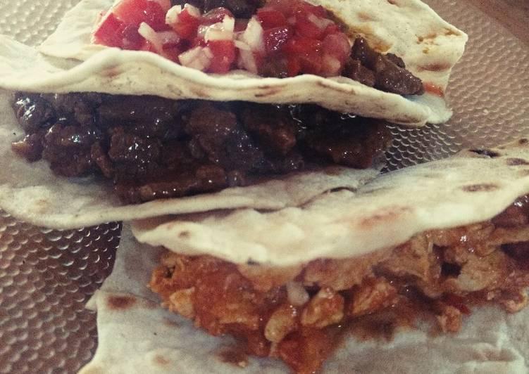 Recipe: Yummy Tacos/burritos + tortilla de trigo