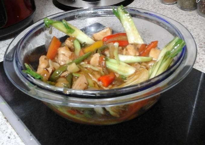 My Chinese Chicken stir fry with mix veg 😀